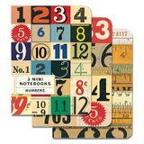 CADERNETA-NOTEBOOKS-MINI-NUMBERS-3UN-48F-10X13CM-NB123-MINI-CAVALLINI