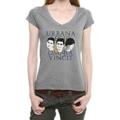 Camiseta Babylook Legião Urbana - Cor Cinza - Tamanho M