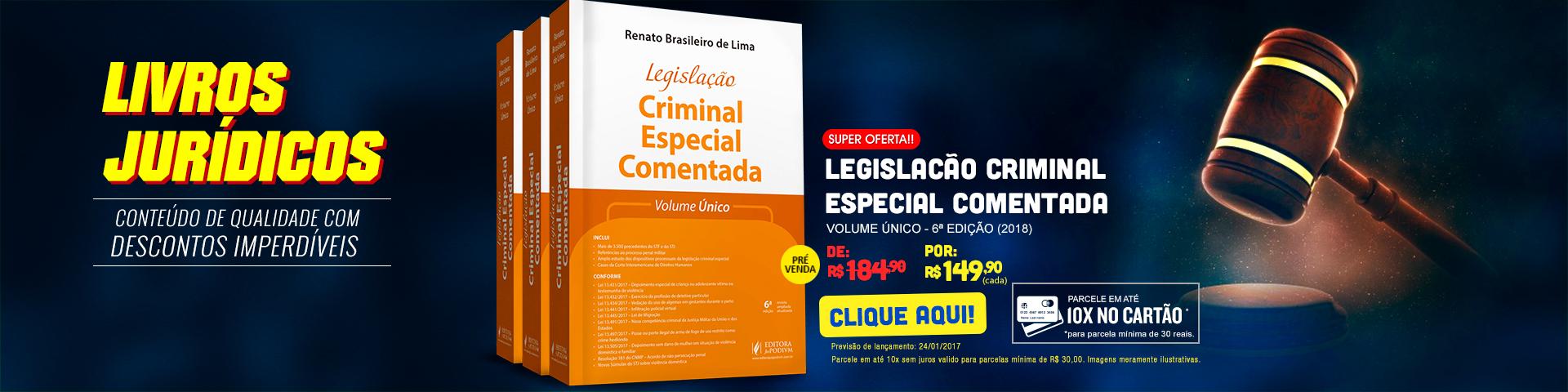 Livros Jurídicos - Legislação Criminal Especial Comentada