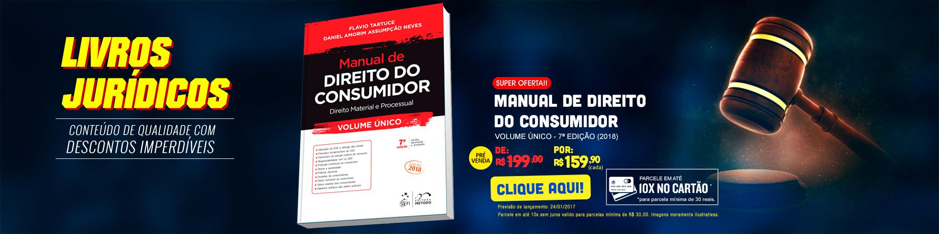Livros Jurídicos - Manual de Direito do Consumidor