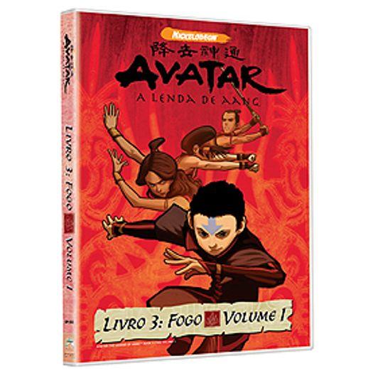 Dvd Avatar A Lenda De Aang Livro 3 Fogo Vol 1 Livrarias