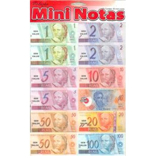 Dinheiro Pedagogico Mini Notas Epocart Livrarias Curitiba