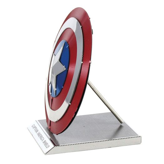 Mini Replica Para Montar Marvel Escudo Capitao America Metal