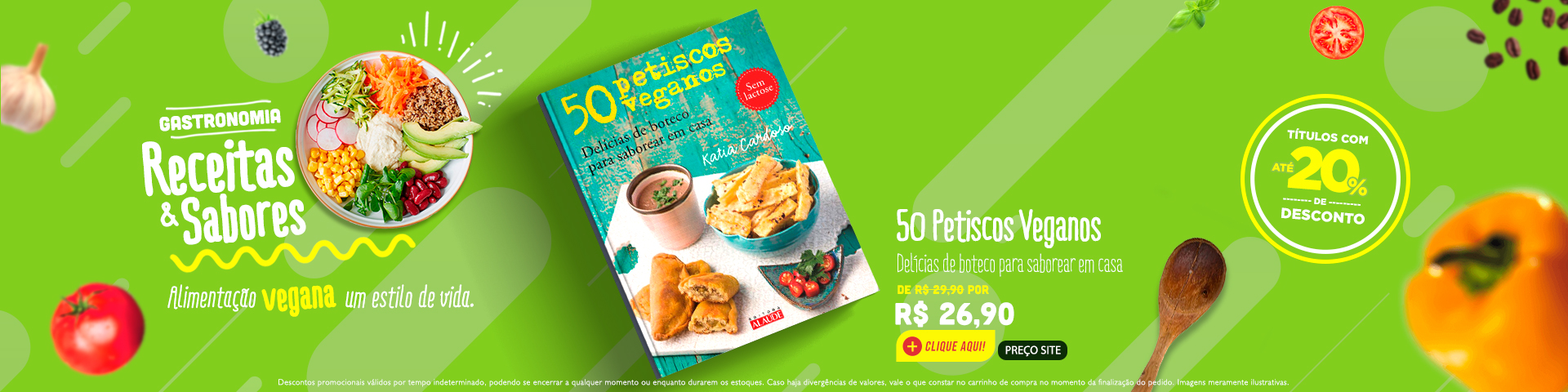 Gastronomia - Petiscos veganos