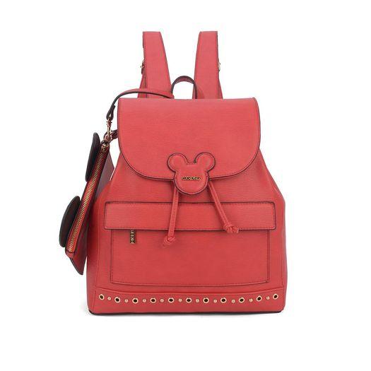 b6c5f06812 Bolsa Mickey Mouse couro sintético na cor vermelha. Abertura principal com  zíper