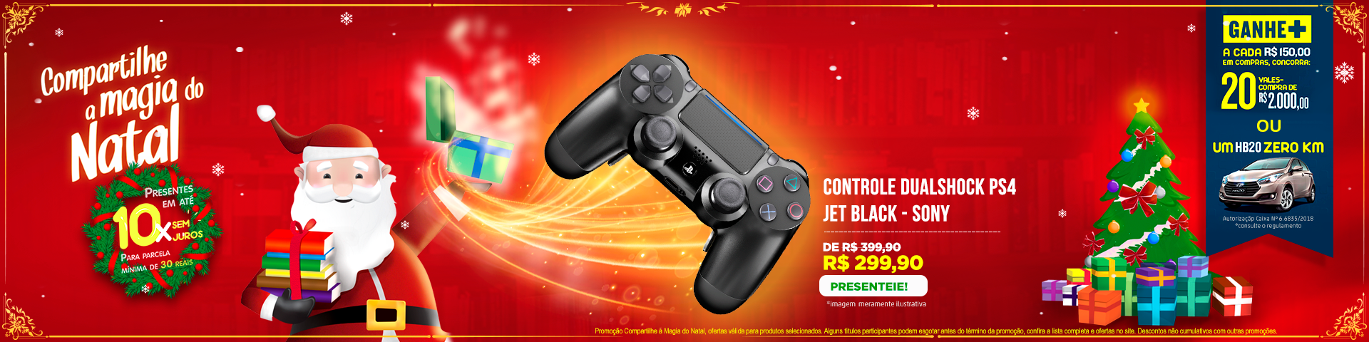 Natal - Controle PS4
