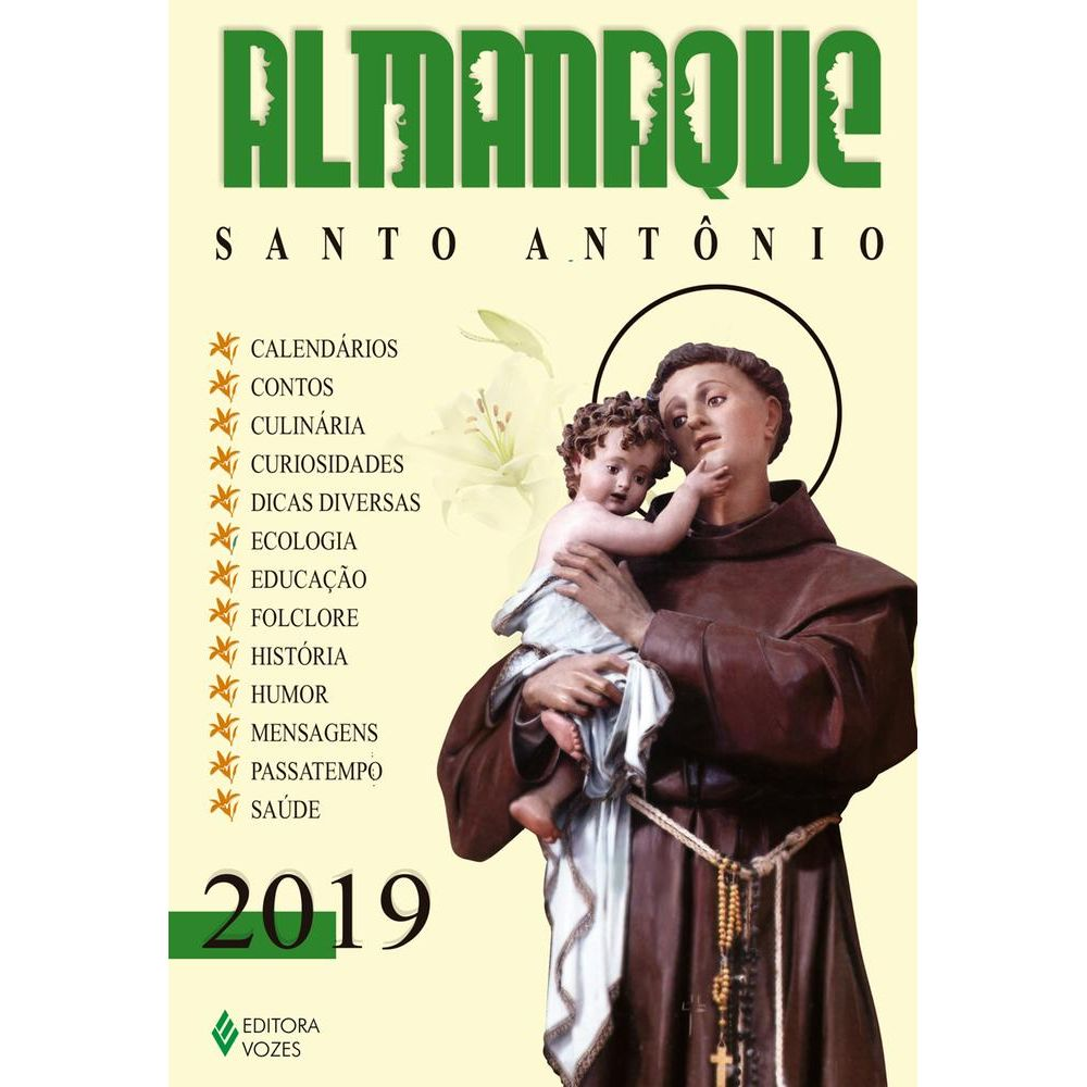 Almanaque Santo Antonio 2019 Vozes 1 Ed Livrarias Curitiba