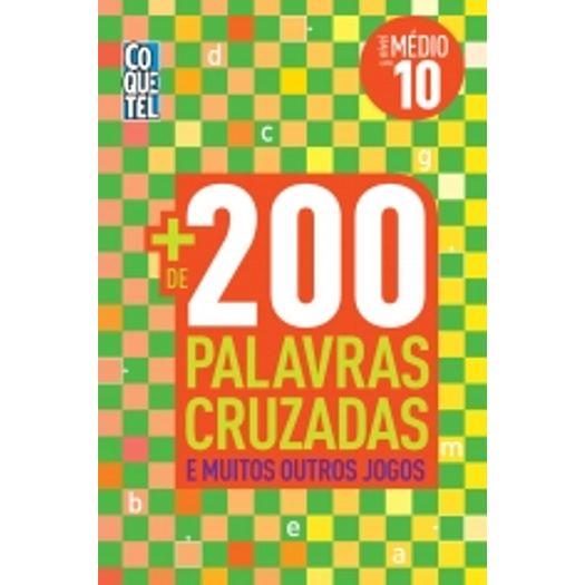851328d044194 Mais 200 Palavras Cruzadas - Nivel Medio 10 - Coquetel - Livrarias ...