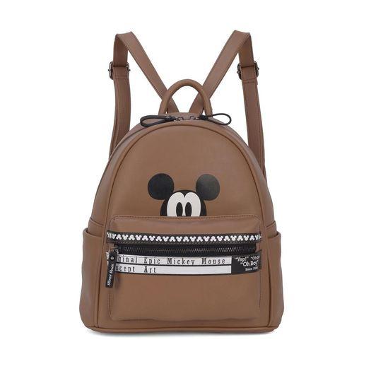 7627c33946 Bolsa Mickey Mouse couro sintético na cor preta. Abertura principal com  zíper
