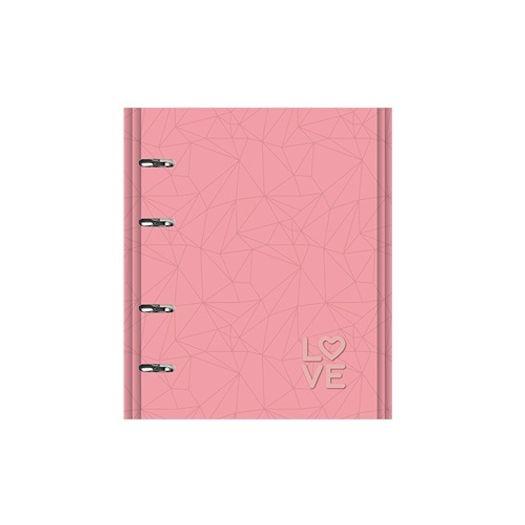 6972df742 Caderno Fichário 10x1 190 Folhas Pink Stone 177 Gm 4501-2 Otima ...