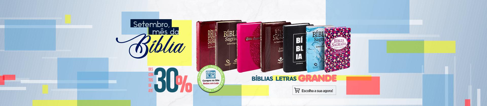 Mês da Bíblia - Letras Grandes