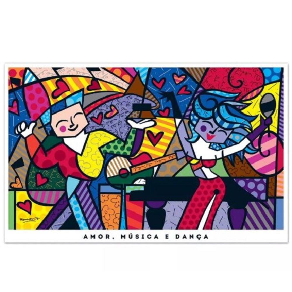 Quebra Cabeca 3000 Pecas Romero Britto Amor Musica Danca 02961