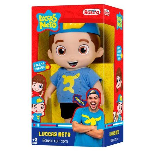 Boneco 27cm Luccas Neto Frases 1070 Novabrink