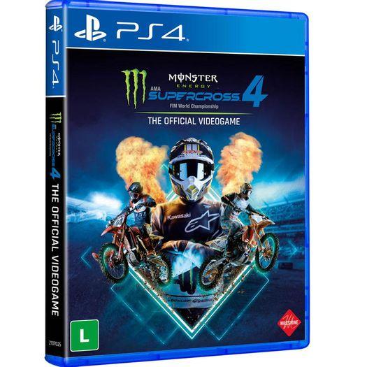 Jogo Monster Energy Supercross - The Official Videogame 4 - Playstation 4 - Milestone