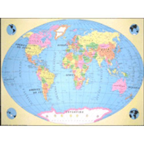 Mapa Mundi Politico 126x92cm Simples 111 03 Blister Geomapas
