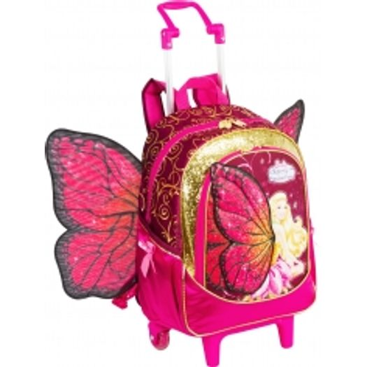 Mochila Com Rodinha Barbie Butterfly E A Princesa Rs 63081