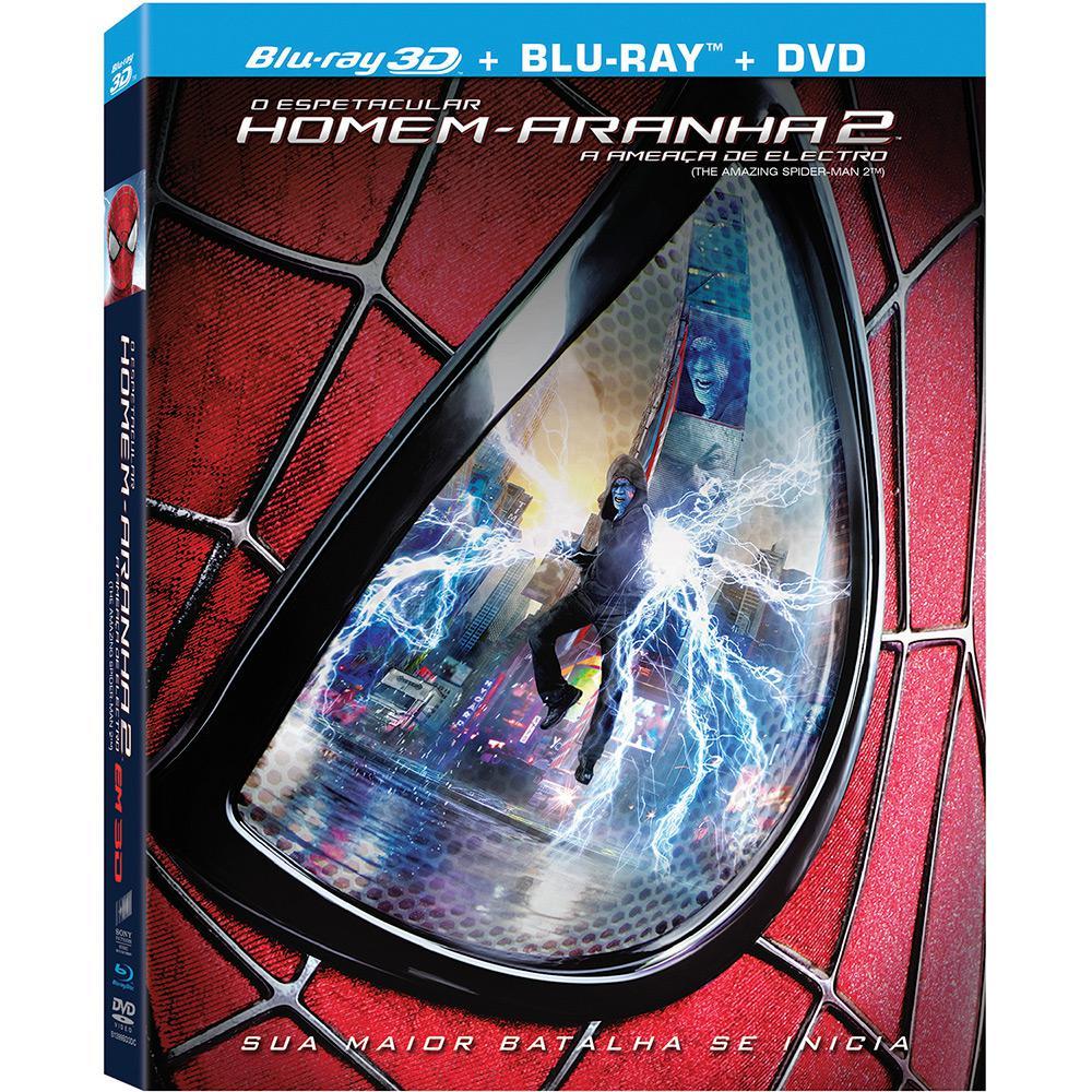 Blu Ray O Espetacular Homem Aranha 2 A Ameaca De Electro 3d