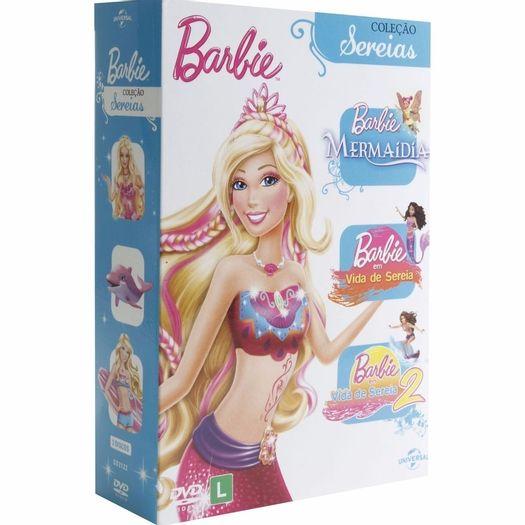 dvd barbie coleção sereias 3 dvds livrarias curitiba