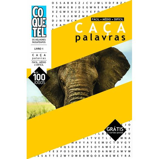 b852e8251e0eb Caca Palavras - Nivel Facil Medio Dificil - Livro 1 - Ed Especial ...