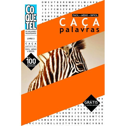 e5a5a1eac66c9 Caca Palavras - Nivel Facil Medio Dificil - Livro 3 - Ed Especial ...