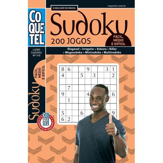 24b89e40a3ef5 Sudoku - Facil Medio Dificil - Livro 149 - Coquetel - Livrarias Curitiba