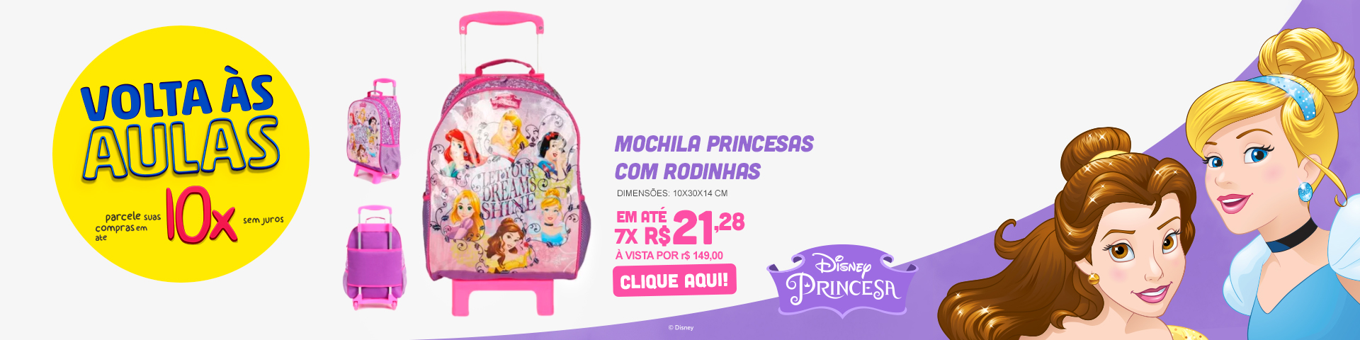 Mochila Princesas